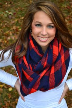 Brighten Up Your Fall Scarf- Red