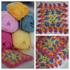 Granny square challenge week 9 - Granny spike stitch square on The Heartfelt Company