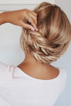 Fishtail Braid, updo, summer hairstyle, spring hairstyle, back to school hairstyles, prom, wedding, blonde, ombre, balayage, pink, girly, inspo, hair