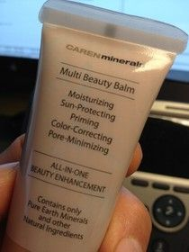 CARENminerals Multi Beauty Balm. Also GF love this one. One of those days your in a hurry put this on with a little gloss and your good to go;)