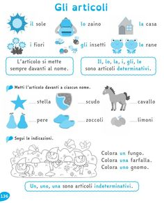 from Il Filo delle idee - Teaching Materials, Teaching Resources, Italian Courses, Italian Vocabulary, Italian Language, Learning Italian, Studyblr, Home Schooling, Grade 1