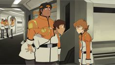 "Lance to Pidge as he and Hunk first met Pidge in their Galaxy Garrison uniforms without knowing her true identity as girl and Pidge is getting annoyed by his words about hanging out as boys before she walks away from them- ""Hello? Pizza? Girls? Astronauts?"" from Voltron Legendary Defender"