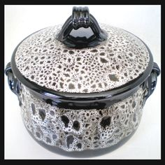Studio Thrown Art Pottery Ceramic Casserole Pot & Lid Signed By Artist Stoneware | eBay