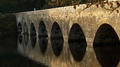 The bridge over Bosherston lily ponds, Stackpole, Pembrokeshire, Wales, UK - Photo by Paul Seymour.
