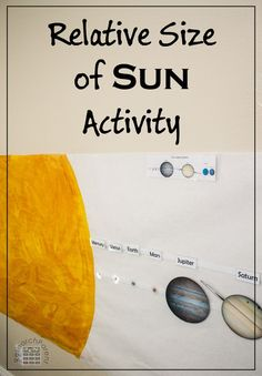 Relative Size of the Sun Activity for learning the sizes of the planets and their order relative to the sun