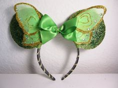 Tinkerbelle Minnie Mouse Ears Tinkerbelle Mouse by OohlalaPretty