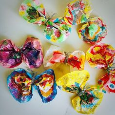 butterflies made from coffee filters