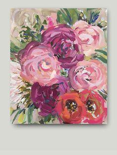 Impresionista arte acrílico pintura impresionismo arte rosas