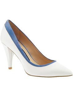 French Connection Faith White & Blue Shoes