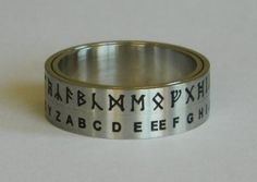 Easily and quickly translate runes on the go. Hobbit Translator Ring I need this! O Hobbit, Geek Out, One Ring, Geek Chic, Middle Earth, Lord Of The Rings, Tolkien, Lotr, Runes