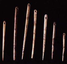 Courbet needles Bone needles from Courbet. Lengths 39 - 55 mm 14,000 YA