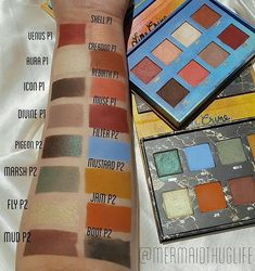 Venus and Venus 2 swatched! ✔️ Grab both palettes bundled together for $45 ➡️ Limecrime.com/Bundles  Photo by @mermaidthuglife