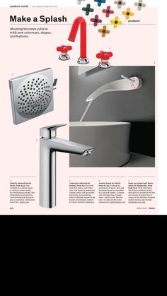 Faucet and shower head.