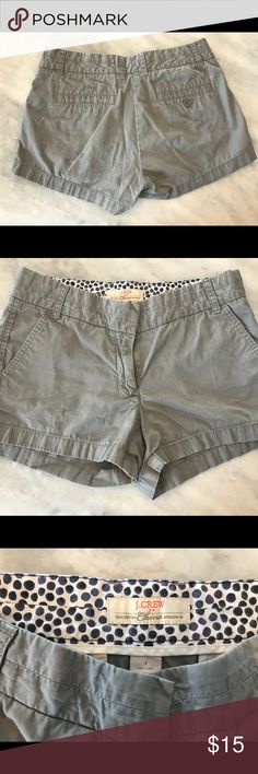 J Crew Chino built in shorts Used condition, no tears of stains. J Crew Chino Built in. Size 4. J. Crew Shorts