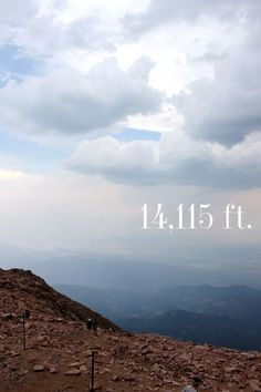 Pike's Peak in Colorado. Elevation: 14,115 feet.