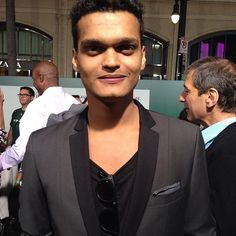 Madhur Mittal (Dinesh Patel) on the green carpet at the