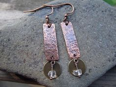 Copper and Brass earrings by StameyCreekCreations on Etsy
