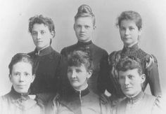 From the graduates of the first two classes of the new Nursing school at Rochester General Hospital, these six women went on to become physicians. Elizabeth Campbell, Mary Emma Dickinson, Kate A. Kathaway Salmon, A. Josephine Sherman-Buckley, Sarah H. Perry, and Marcina Sherman-Ricker