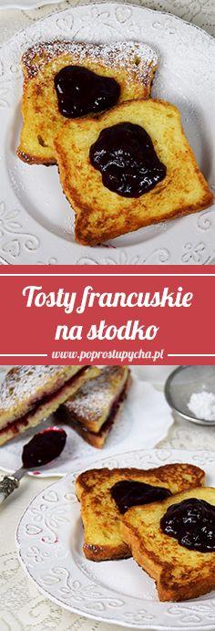 Masz może chleb tostowy lub czerstwą chałkę? Zrób tosty francuskie! To nic innego jak kromki pieczywka, najczęściej czerstwego, namoczone w mleku z jajkiem i usmażone na złoty kolor. W wersji na słodko z konfiturką #Stovit smakują świetnie! <3 Jadłeś/aś??? #poprostupycha #sniadanie #tosty #przepis