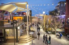 Container Park: In downtown Las Vegas, an initiative to revitalise the area into a lively arts district has individual businesses operate from shipping containers and make up an open shopping mall, with bars, restaurants and a play area for children.  Credit: Getty Images