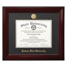Double diploma frame for 85 x 11 diplomas solid cherry fade concordia university portland or yearbooks grad products jewelry jostens solutioingenieria Gallery