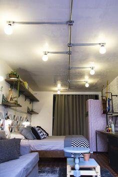 Decora Rosenbaum Temporada 3 - Garaloft. Decoração industrial, inspiração loft Nova Iorque. Conduítes aparentes. Foto: Felipe Felco Valle