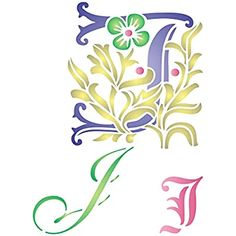 """Initial J Stencil (size 6.5""""w x 8.8""""h) Reusable Stencils for Painting - Best Quality Letter Wall Art D cor Ideas - Use on Walls, Floors, Fabrics, Glass, Wood, Cards, and More..."""
