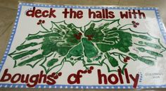 Handprint Christmas Holly Placemat