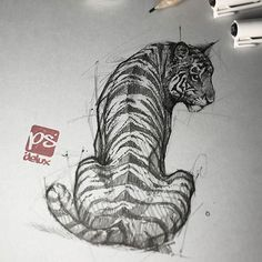 Psdelux is a pencil sketch artist based in Tatabánya, Hungary. He usually draws animal sketches. Psdelux also makes digital drawings. Tiger Sketch, Tiger Drawing, Human Drawing, Skull Sketch, Animal Sketches, Animal Drawings, Art Sketches, Art Drawings, Sketch Drawing