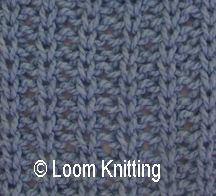 Loom knitting: Slip and Purl stitch pattern