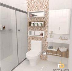 BANHEIRO PEQUENO | Projeto de interiores de um banheiro. A vontade do cliente era que a pia para os dois banheiros (feminino e masculino) ficasse do lado de fora, no caso uma pia para os dois banheiros.   Quer receber dicas diárias de decoração, além de muita inspiração de projetos? Me acompanhe no Instagram: @rbastos.arquitetura. Te espero lá.  #decoração #banheiro #banheiropequeno #inspiração #renatabastosarquitetura