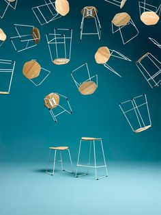 Celebrating Australian Designers With Stylecraft Industrial Furniture, Industrial Design, Funky Design, Interior Architecture, Interior Design, Layout Design, Bar Stools, Colorful Backgrounds, Projects