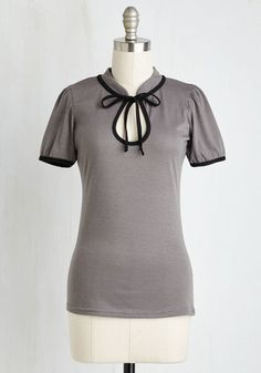 Make the Most of It Top in Stone $39.99 AT vintagedancer.com