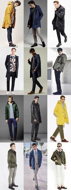 Men's Lightweight Rain Jackets and Waterproof Macs - Transitional Season Outfit Inspiration Lookbook