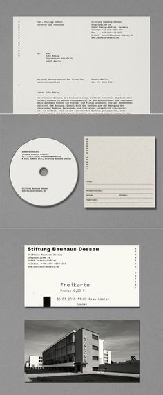 Bauhaus Dessau Foundation Identity Design - courier font