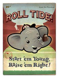 Atlanta Vintage Travel - Alabama Roll Tide Boy
