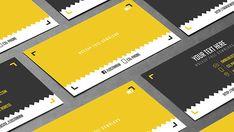 yellow-black-card-template