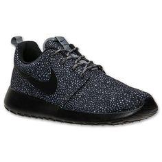 Women's Nike Roshe Run Print Casual Shoes  FinishLine.com   Cool Grey/Black/Wolf Grey/Volt