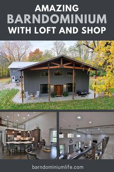Barn Homes Floor Plans, Metal House Plans, Metal Barn Homes, Pole Barn House Plans, Pole Barn Homes, Garage House Plans, New House Plans, Dream House Plans, House Floor Plans