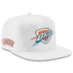 watch 90371 deb00 Youth Oklahoma City Thunder New Era White 2017 Official On-Court Collection  9FIFTY Snapback Hat