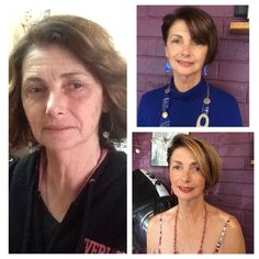 Before and after using ageLOC galvanic spa and transformation skin care