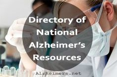 Directory of National Alzheimer's and Dementia Resources