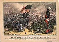 An article about the Confederacy's victory in the Civil War's Second Battle of Bull Run (Manassas) in Virginia on Aug. American Civil War, American History, Abraham Lincoln For Kids, Fort Sumter, Civil War Art, Union Army, Civilization, Two By Two, Military