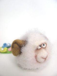 Needle Felted Toy  Little Sheep Felt Toys Autumn by VladaHom