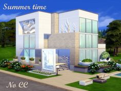 In this house there are 3 floors. Found in TSR Category 'Sims 4 Residential Lots'