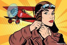Retro Pop, Style Retro, Hot Air Balloon Cartoon, Bd Pop Art, Pop Art Vintage, Desenho Pop Art, Retro Vector, Comic Styles, Digital Art Girl