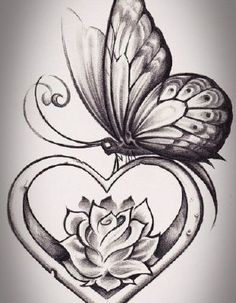 Butterfly With Flowers Tattoo, Butterfly Tattoo Cover Up, Butterfly Sketch, Butterfly Tattoo On Shoulder, Butterfly Tattoo Designs, Drawing Flowers, Lotus Flower, Rose Vine Tattoos, Flower Tattoos
