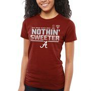 Alabama Crimson Tide Women's 2015 College Football Playoff Sugar Bowl Bound Slogan Too T-Shirt - Crimson