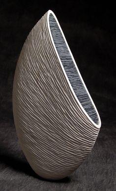Thierry Martenon ~ Wood Sculpture 2005 (Erable et Ardoise - Maple and Slate)