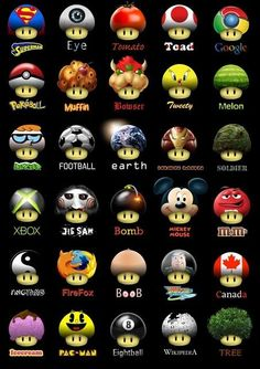 Just like those universal Ghosts from video game Pacman, but this time it's Super Mario Mushroom's turn. Super Mario Kunst, Super Mario Art, Gta V Ps4, Mushroom Art, Super Mario Brothers, Video Game Art, Super Smash Bros, Super Funny, Pac Man
